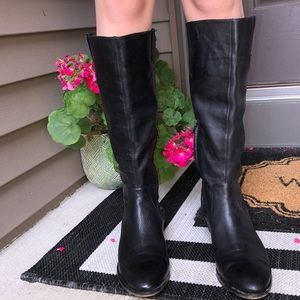Arturo Chiang Black Leather Boots 10